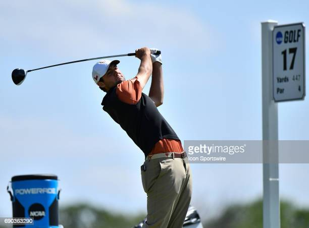 Texas Longhorns Scottie Scheffler plays the ball from the 17th tee during round four of the 2017 Division I Men's Golf Championships on May 29 2017...