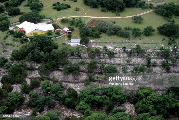 USA Texas Near Junction Aerial Photo Erosion Prevention