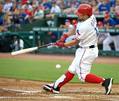 Texas Rangers designated hitter Rougned Odor strikes out to end the first inning against the Oakland Athletics on Monday July 25 2016 at Globe Life...