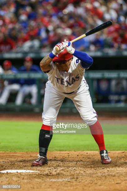 Texas Rangers designated hitter ShinSoo Choo moves out of the way of a inside fastball during the game between the Texas Rangers and the Houston...