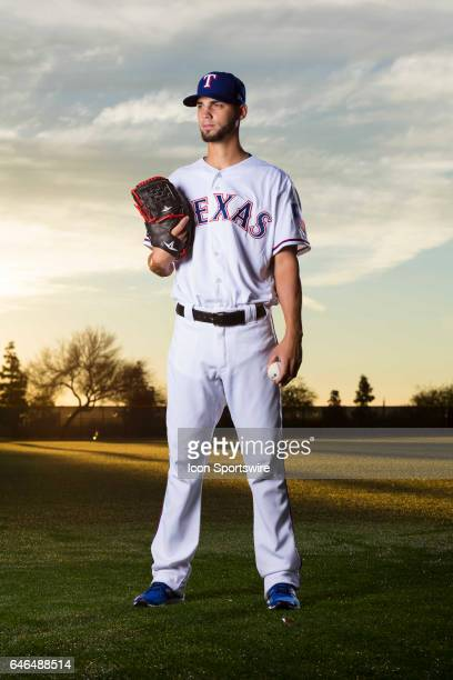 Texas Rangers pitcher Alex Claudio poses for a photo during the Texas Rangers photo day on Feb 22 2017 at Surprise Stadium in Surprise Ariz