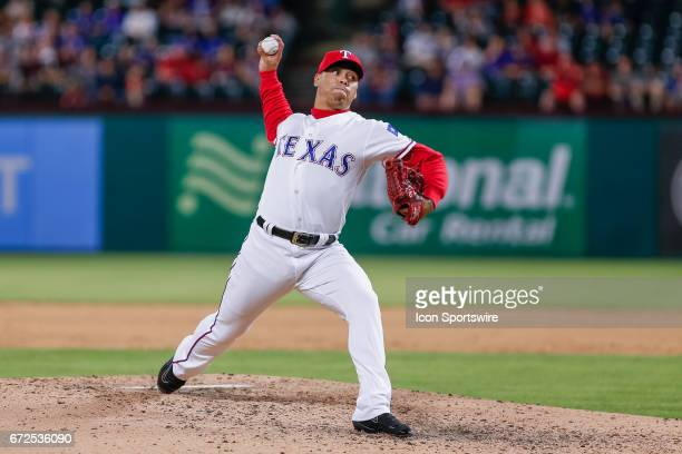 Texas Rangers Pitcher Keone Kela comes on in relief during the MLB game between the Minnesota Twins and Texas Rangers on April 24 2017 at Globe Life...