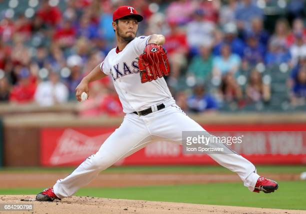 Texas Rangers starting pitcher Yu Darvish goes seven innings in the MLB game between the Philadelphia Phillies and Texas Rangers on May 16 2017 at...