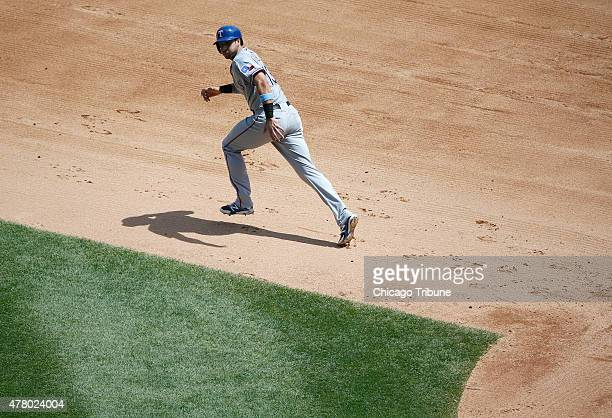Texas Rangers third baseman Joey Gallo leads off during the fourth inning on Sunday June 21 at US Cellular Field in Chicago