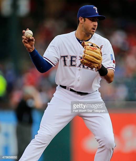 Texas Rangers third baseman Joey Gallo on the field against the Chicago White Sox at Globe Life Park in Arlington Texas on Tuesday June 2 2015