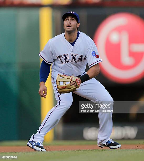 Texas Rangers third baseman Joey Gallo starts for his first time with the Rangers against the Chicago White Sox at Globe Life Park in Arlington Texas...