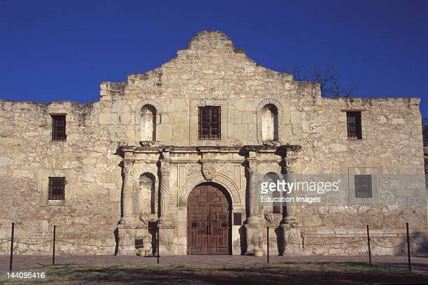 Texas San Antonio Exterior Of The Alamo