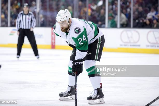 Texas Stars LW Brandon DeFazio during the first period of the AHL hockey game between the Texas Stars and Cleveland Monsters on March 17 at Quicken...