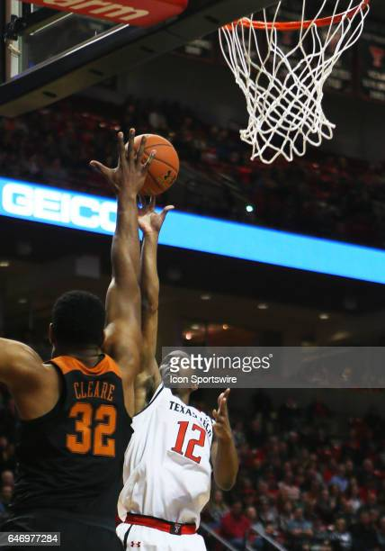 Texas Tech guard Keenan Evans shoots over Texas Forward Shaquille Cleare during the Texas Tech University Red Raider's 6757 victory over the...