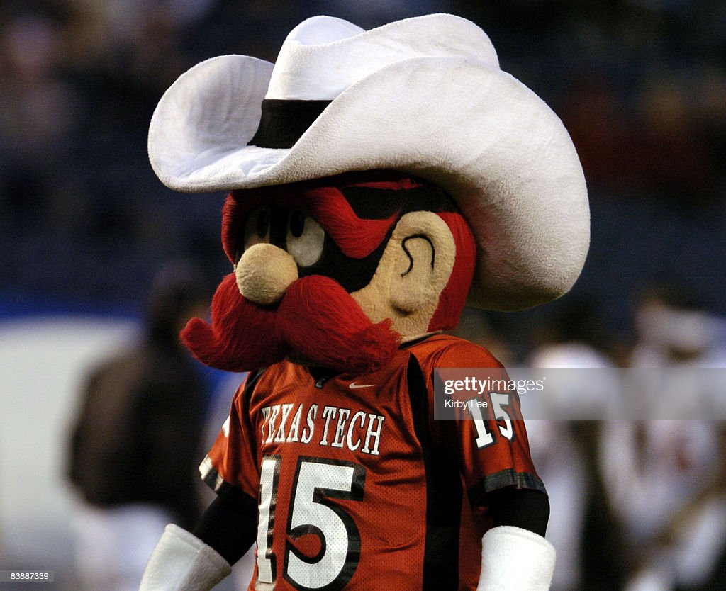 Texas Tech Red Raider mascot at the Pacific Life Holiday Bowl against Cal at Qualcomm Stadium in San Diego Calif on Thursday Dec 30 2004