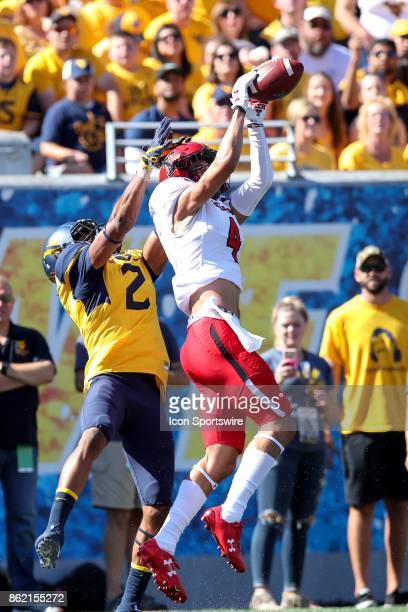 Texas Tech Red Raiders defensive back Desmon Smith breaks up a pass for West Virginia Mountaineers wide receiver Ka'Raun White during the first...