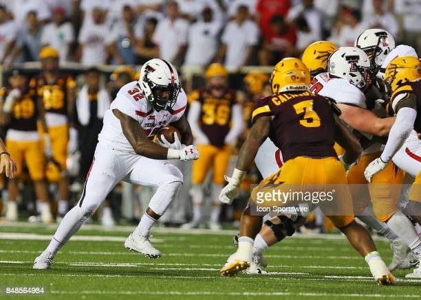 Texas Tech running back Desmond Nisby carries the ball during the Texas Tech Raider's 5245 victory over the Arizona State Sun Devils on September 16...