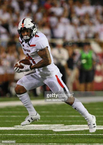 Texas Tech running back Justin Stockton carries the ball during the Texas Tech Raider's 5245 victory over the Arizona State Sun Devils on September...