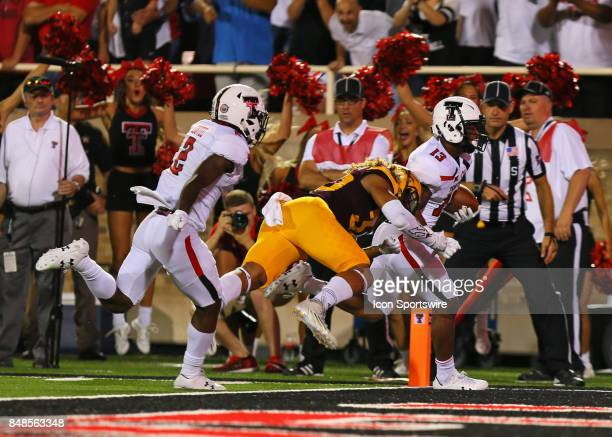Texas Tech wide receiver Cameron Batson scores a touchdown during the Texas Tech Raider's 5245 victory over the Arizona State Sun Devils on September...