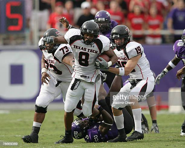 Texas Tech's Joel Filani during the Texas Tech vs TCU game on September 16 2006 at Amon G Carter Stadium in Fort Worth TX TCU defeated Texas Tech 123
