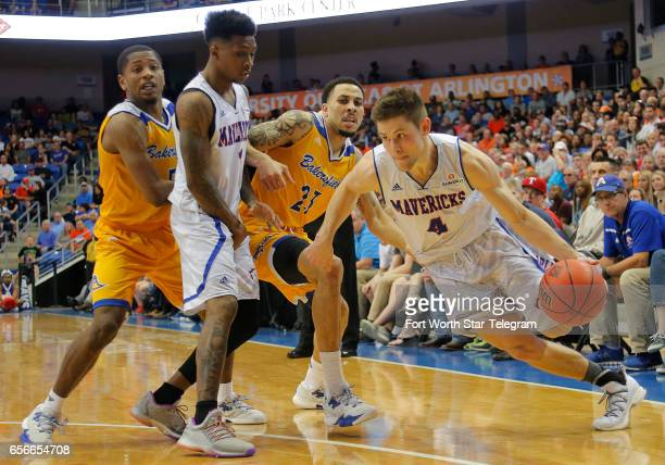 TexasArlington's Drew Charles drives to the basket against Cal State Bakersfield in a National Invitation Tournament quarterfinal at College Park...
