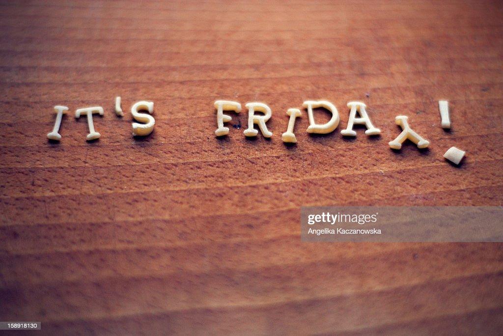 Text  'it's Friday' : Stock Photo