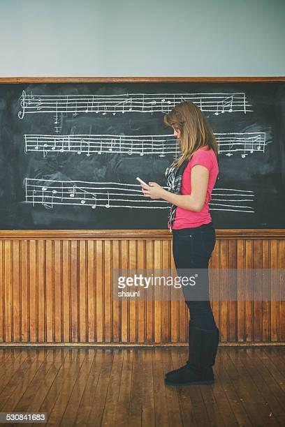 De SMS dans la classe de musique