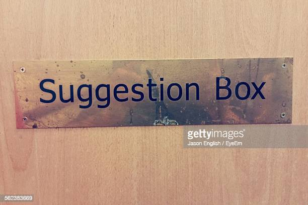 Text On Wooden Box