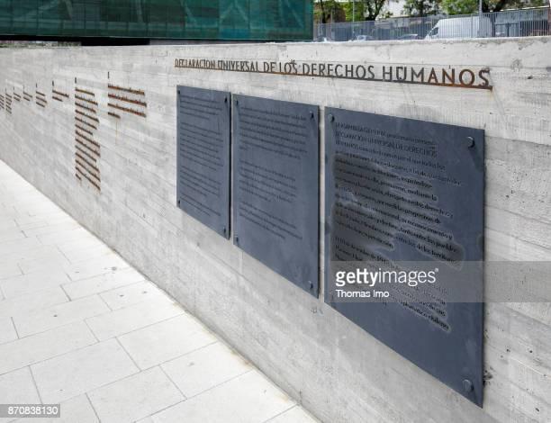 Text panels at the Museo de la Memoria y los Derechos Humanos Museum of Remembrance and Human Rights on October 16 2017 in Santiago de Chile Chile