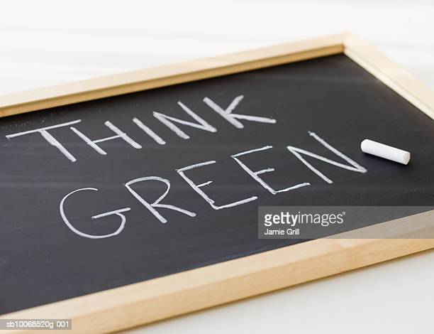 Text written on slate