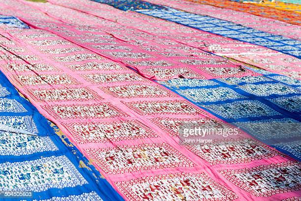 Textile cloth drying, Jaipur, India