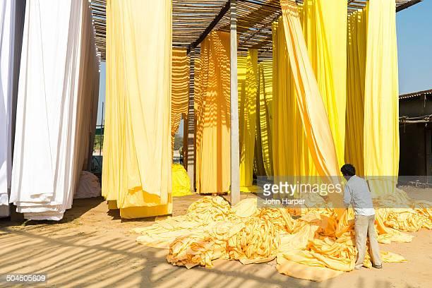 Textile cloth drying, Jaipur, India
