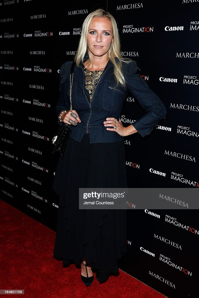 Textile Designer and Co-Founder of Marchesa Keren Craig walks the carpet at Canon's Project Imaginat10n screening of 'A Dream of Flying,' a short film by Georgina Chapman at Crosby Street Hotel on October 16, 2013 in New York City.