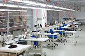 Fashion designer studio  in a textile factory