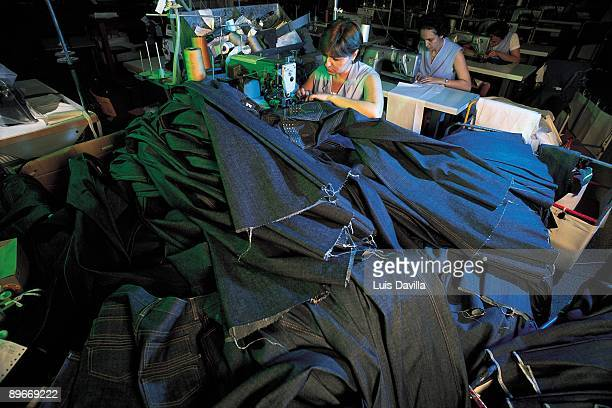 Textile factory Saez Merino Workers of the company of clothes Lois sewing pants