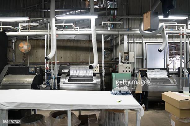 Textile washing and shipping facility