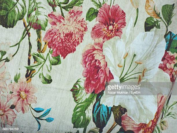 Textile With Floral Pattern