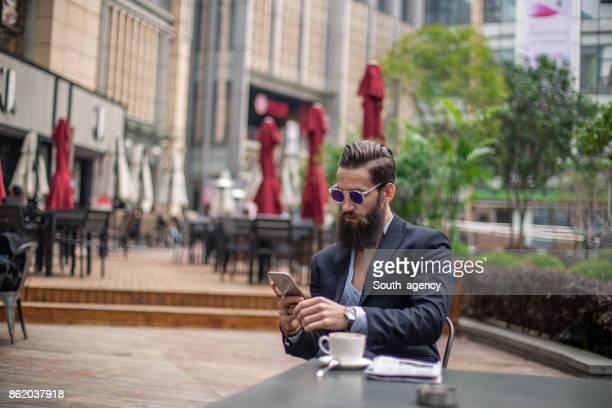 SMS im Café