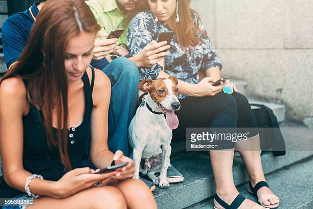 Texting in the city