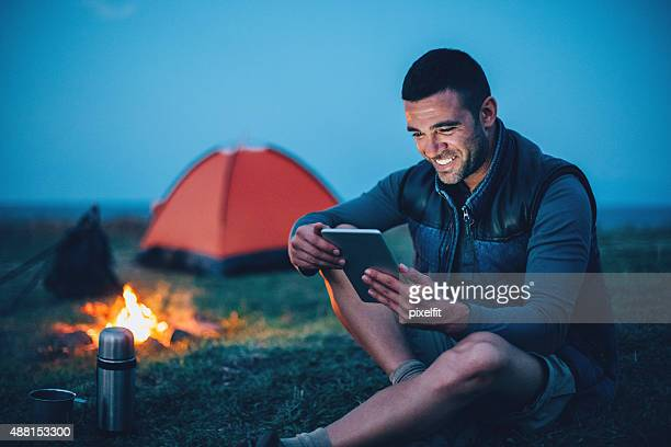 Texting in the mountain