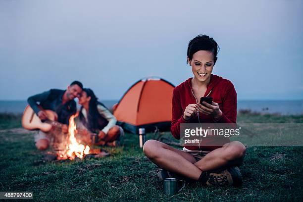 Envoyer des SMS sur la montagne
