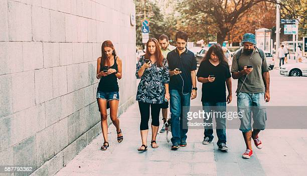 SMS auf der Straße