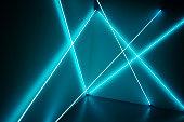 texture lumière en rayons néons