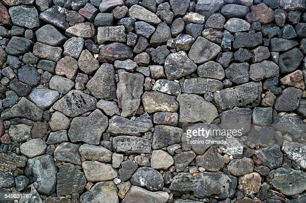 Texture of a dry-stone wall