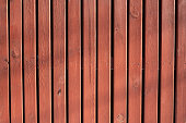 Texture of a red wooden fence