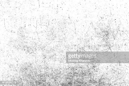 Texture of black and white lines, scratches, scuffs : Stock Photo