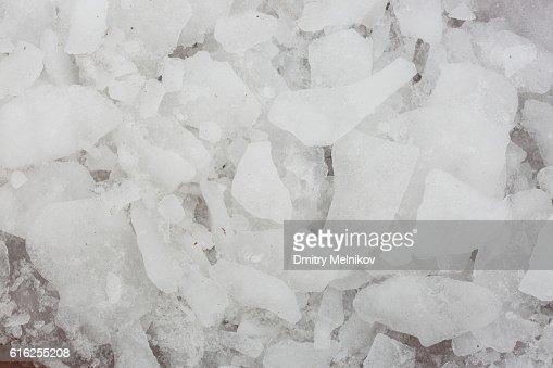 Texture of ice. Frozen snow. : Foto de stock