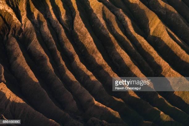 Texture of Mt. Bromo at Sunrise