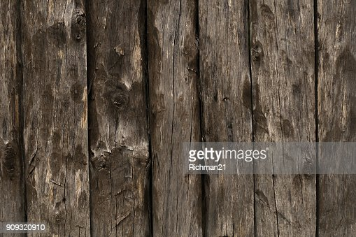 Texture of the old fence of wooden planks background : Stock Photo