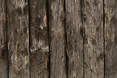 The texture of the old fence of wooden planks background