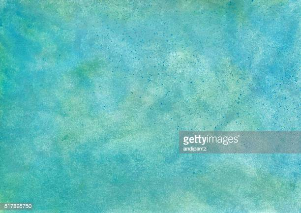Textured background hand painted with shades of teal blue