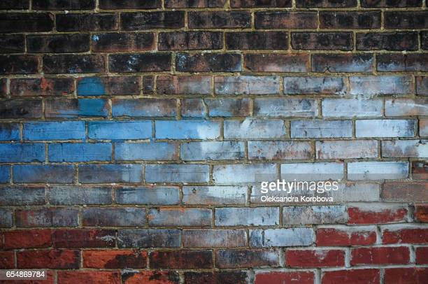 Textured brick wall