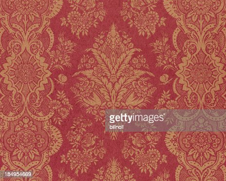 textured paper with antique ornament