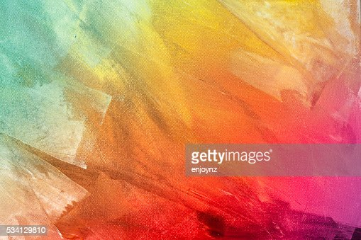 Textured rainbow painted background : Stock Photo