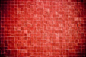Red Tiles Texture Background Wall Pattern Vignette